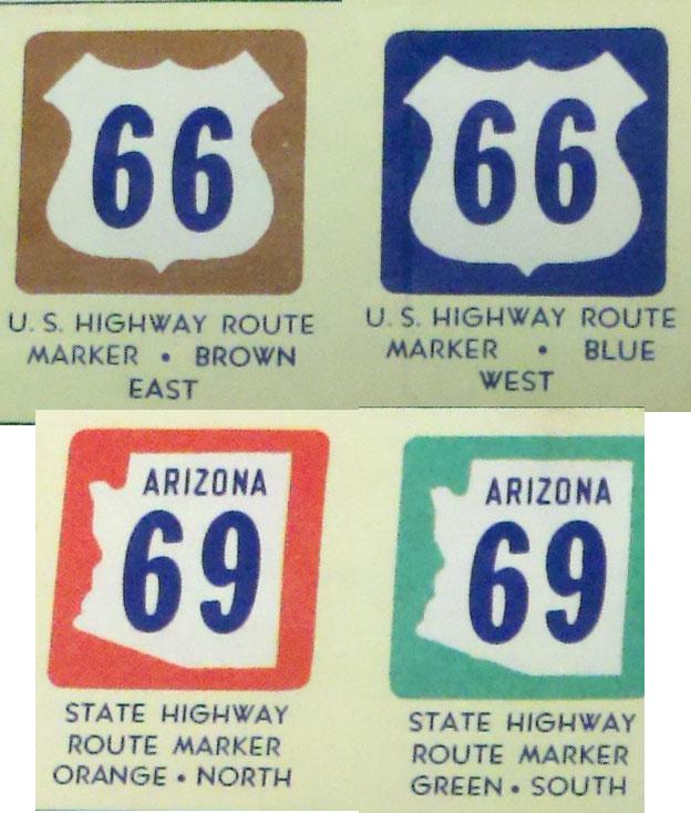 AZ color highway signs
