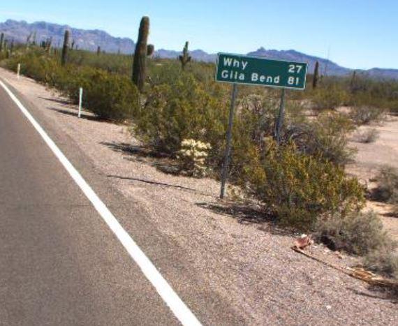 Distance sign SR 85 NB