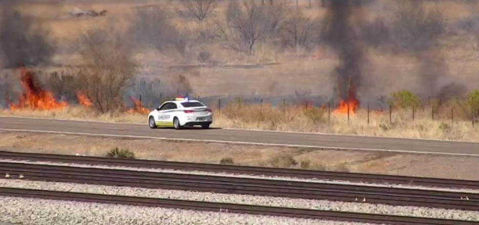 Wildfire off I-10 near Sacaton