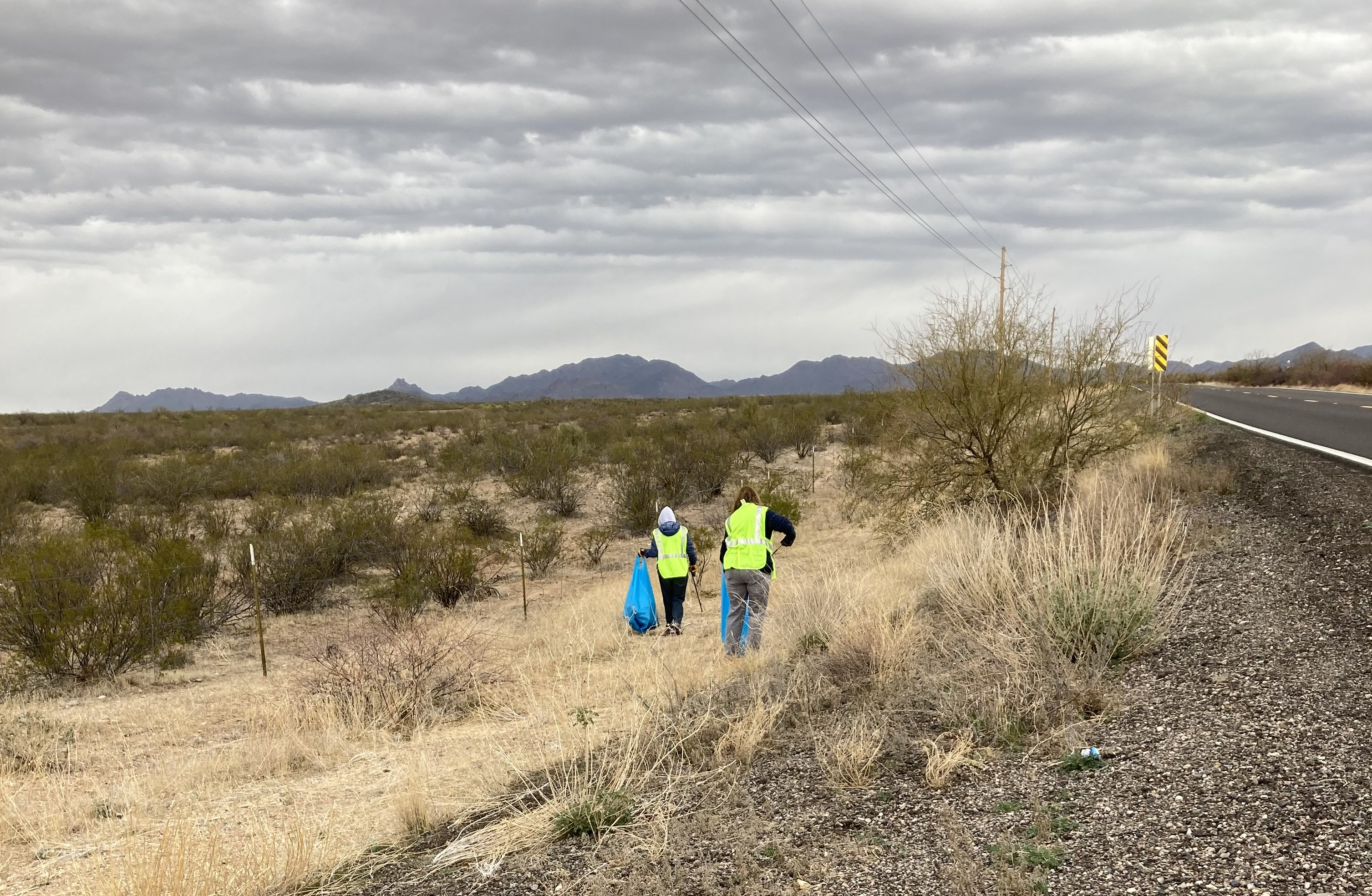 Adopt a Highway SR 89 litter cleanup Escapers RVers Club