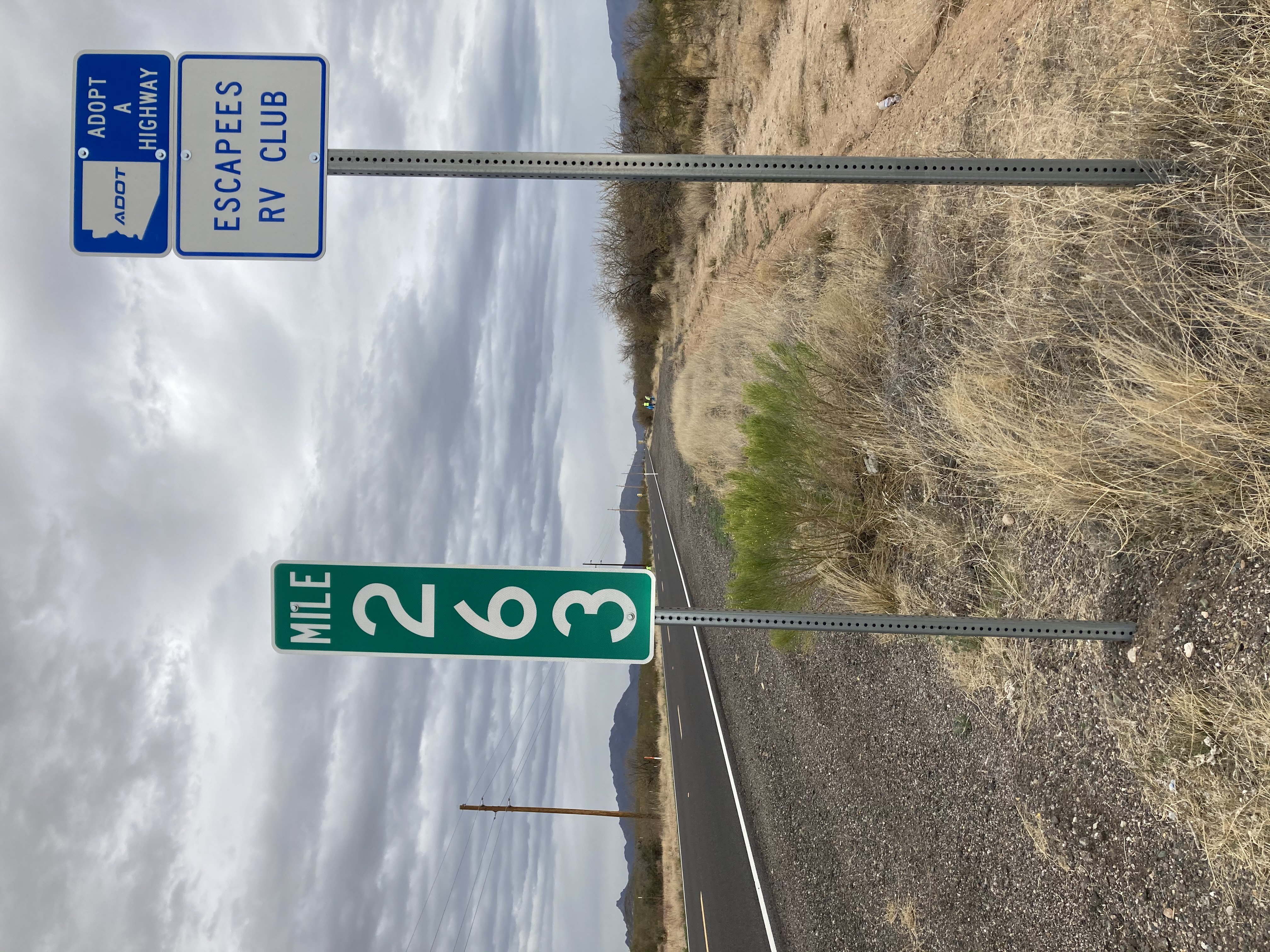 Adopt a Highway State Route 89 litter cleanup Escapers RVers Club