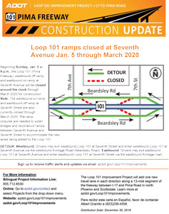 Loop 101 Pima Ramp Closures Flyer