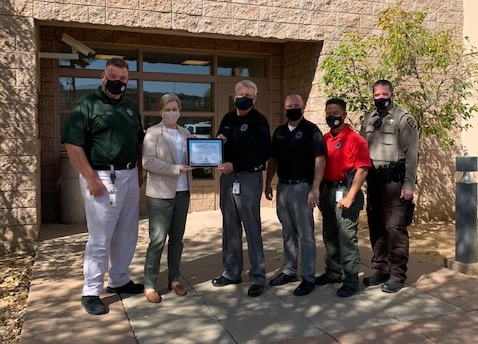 Gila County Sheriffs Office Adopt a Highway cleanup State Route 188 volunteers