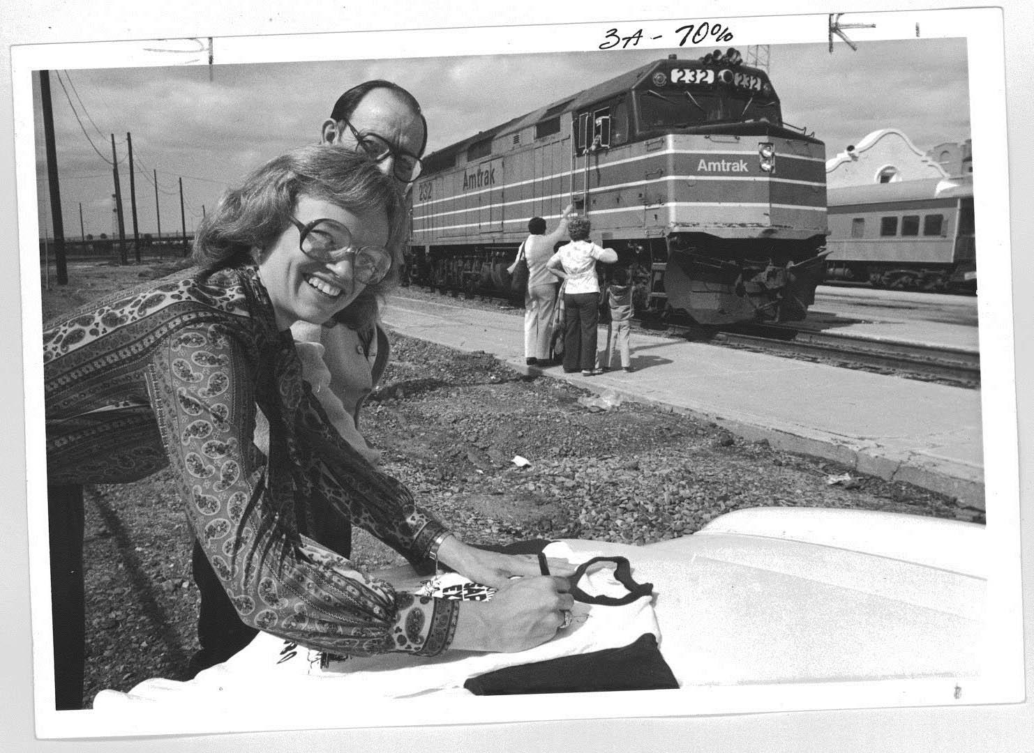 Hattie Babbit and ADOT planner