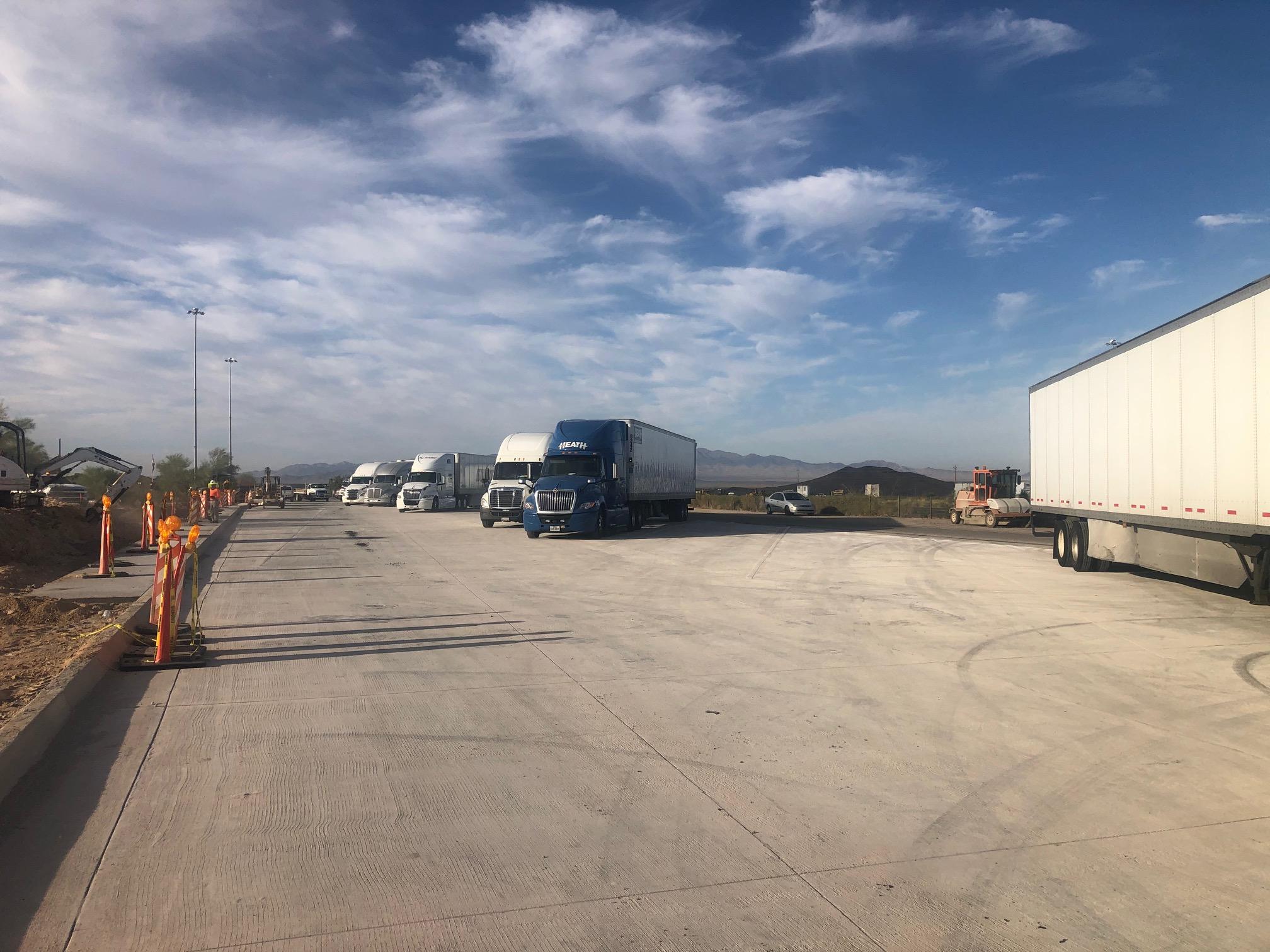 Haviland Rest Area truck parking
