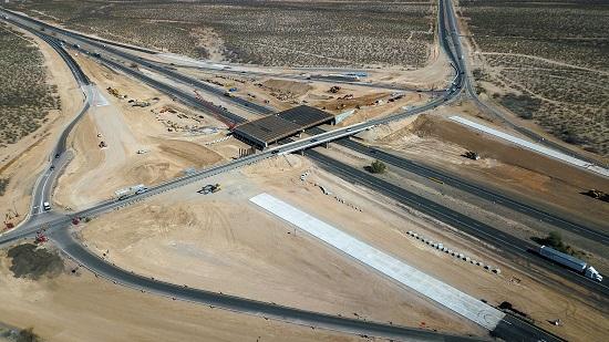 Drone photo of I-10/Houghton Road interchange