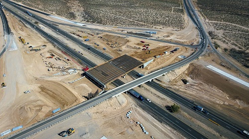 Aerial view of I-10/Houghton Road interchange