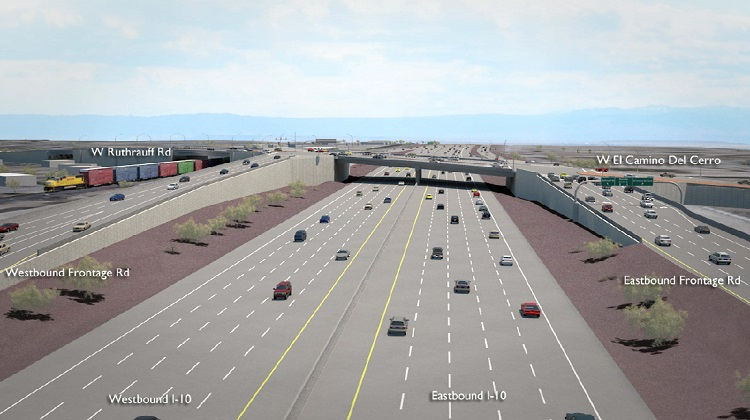 Rendering of Interstate 10 and Ruthrauff interchange