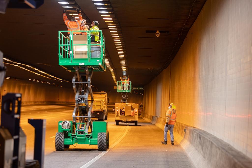 I-10 Deck Park Tunnel Lighting LED installation