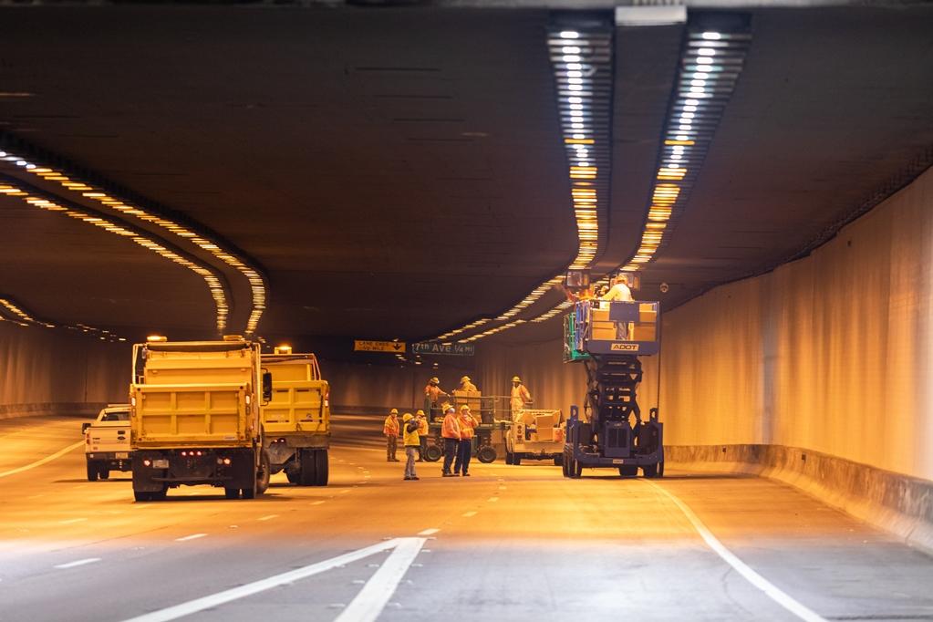 I-10 Deck Park Tunnel Lighting Change