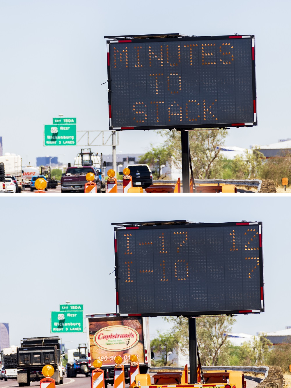 Travel times message