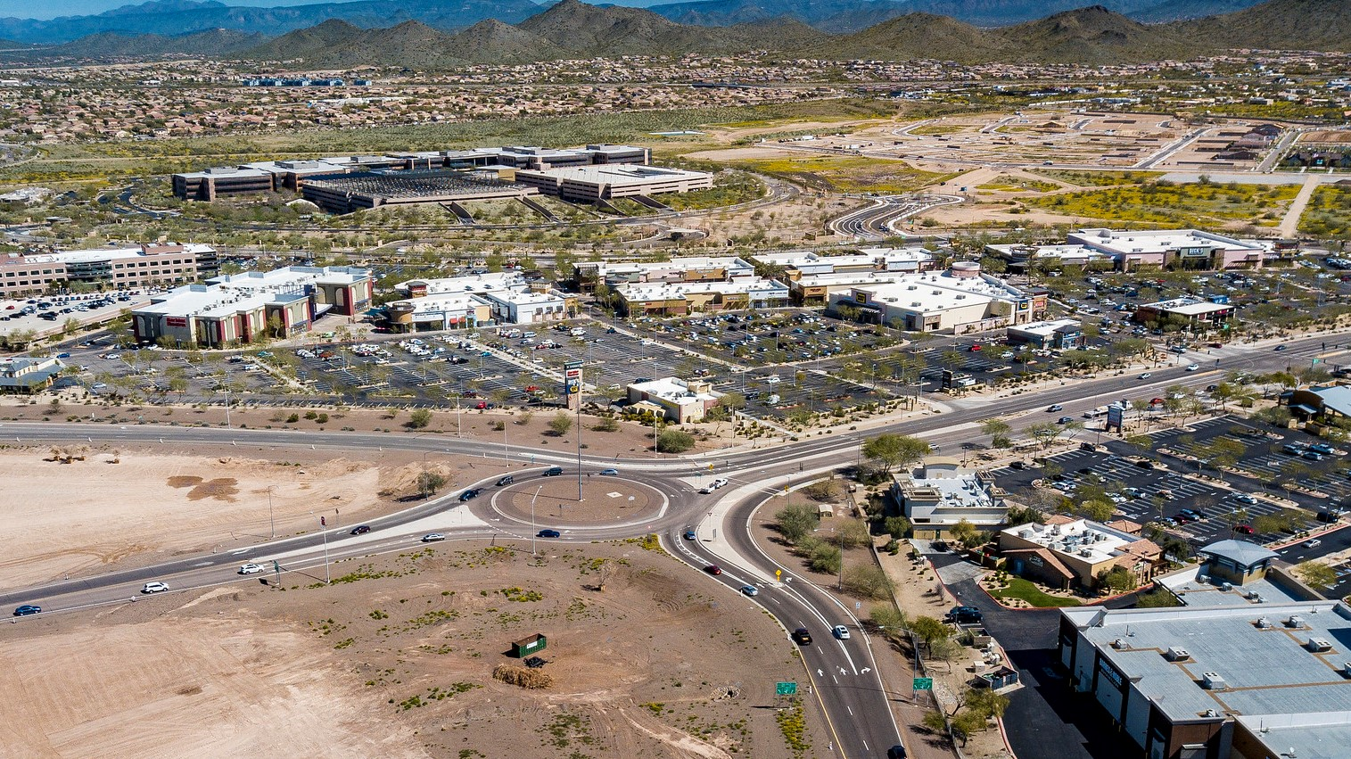 I-17 Happy Valley Roundabout high level view