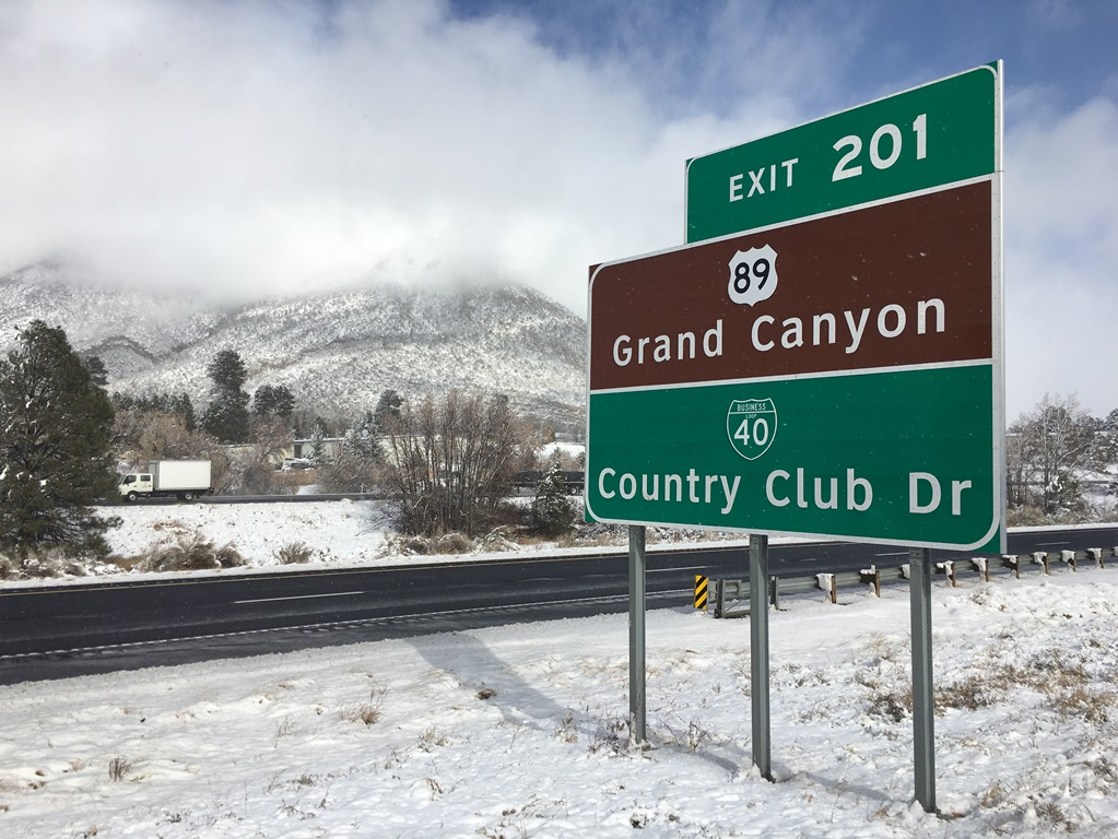 I-40 Snow Photo East Flagstaff