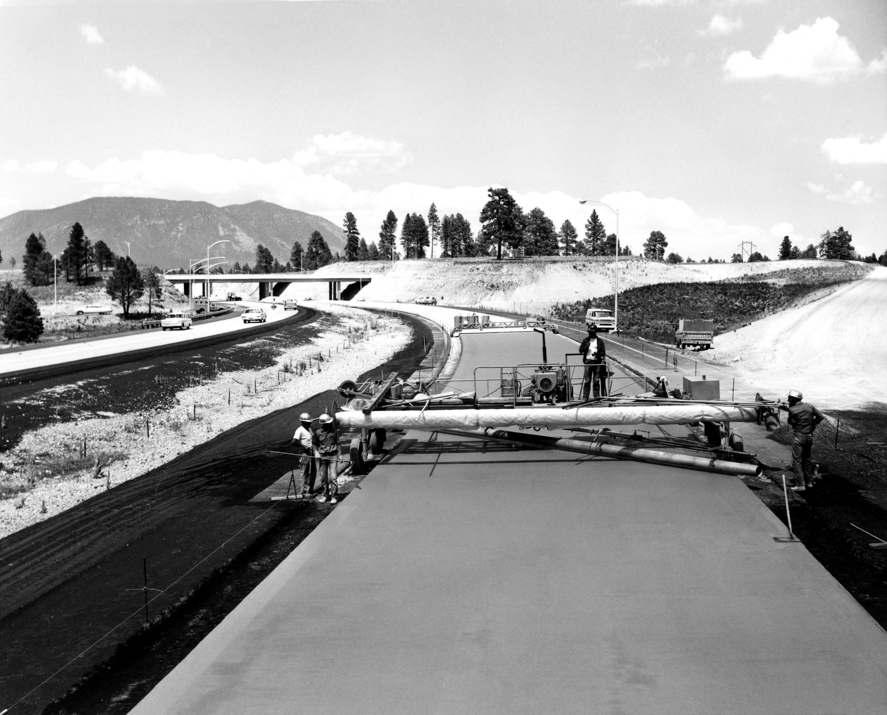I-40 construction circa 1968
