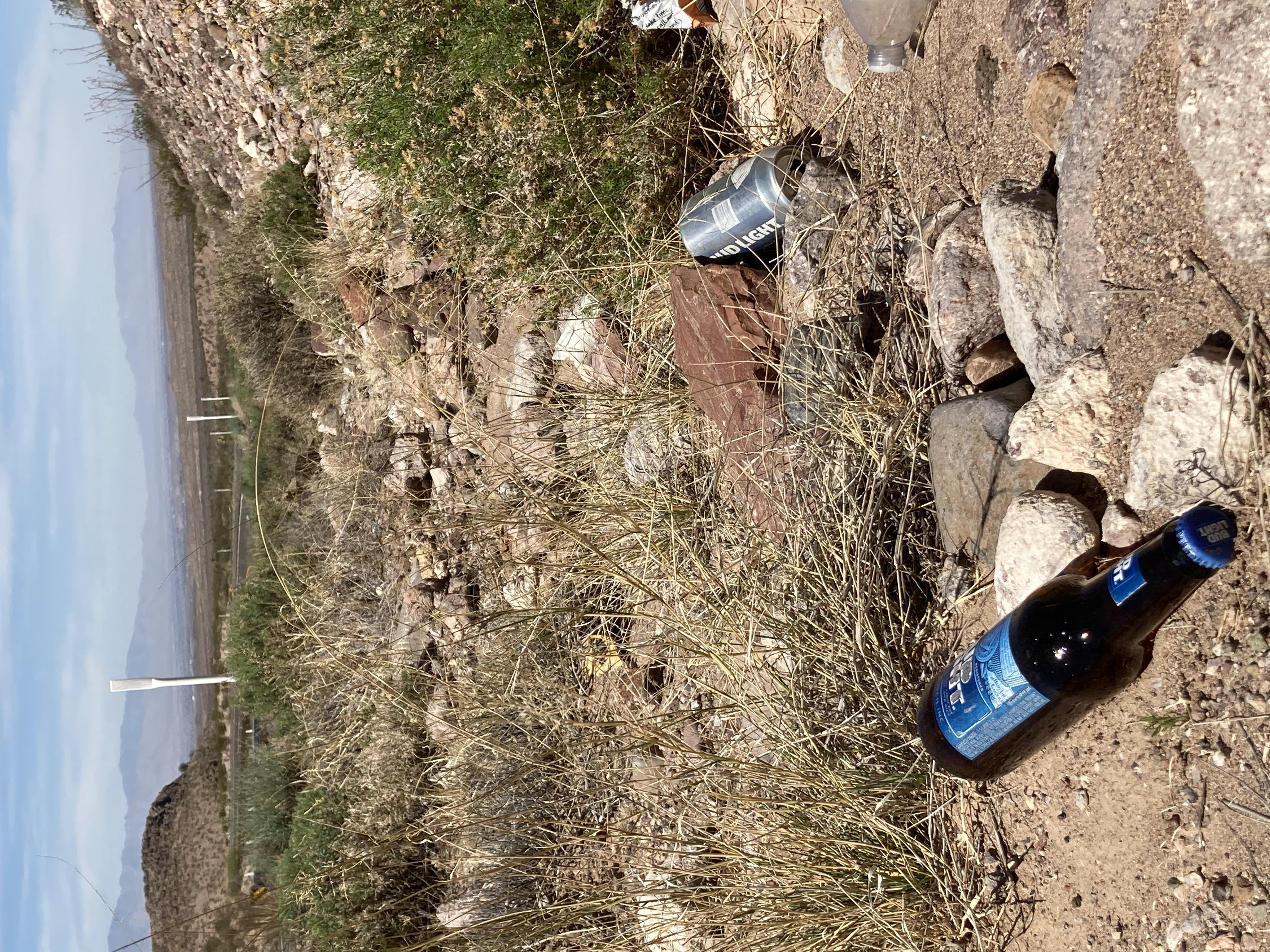 Adopt a Highway US 191 trash Safford scenery