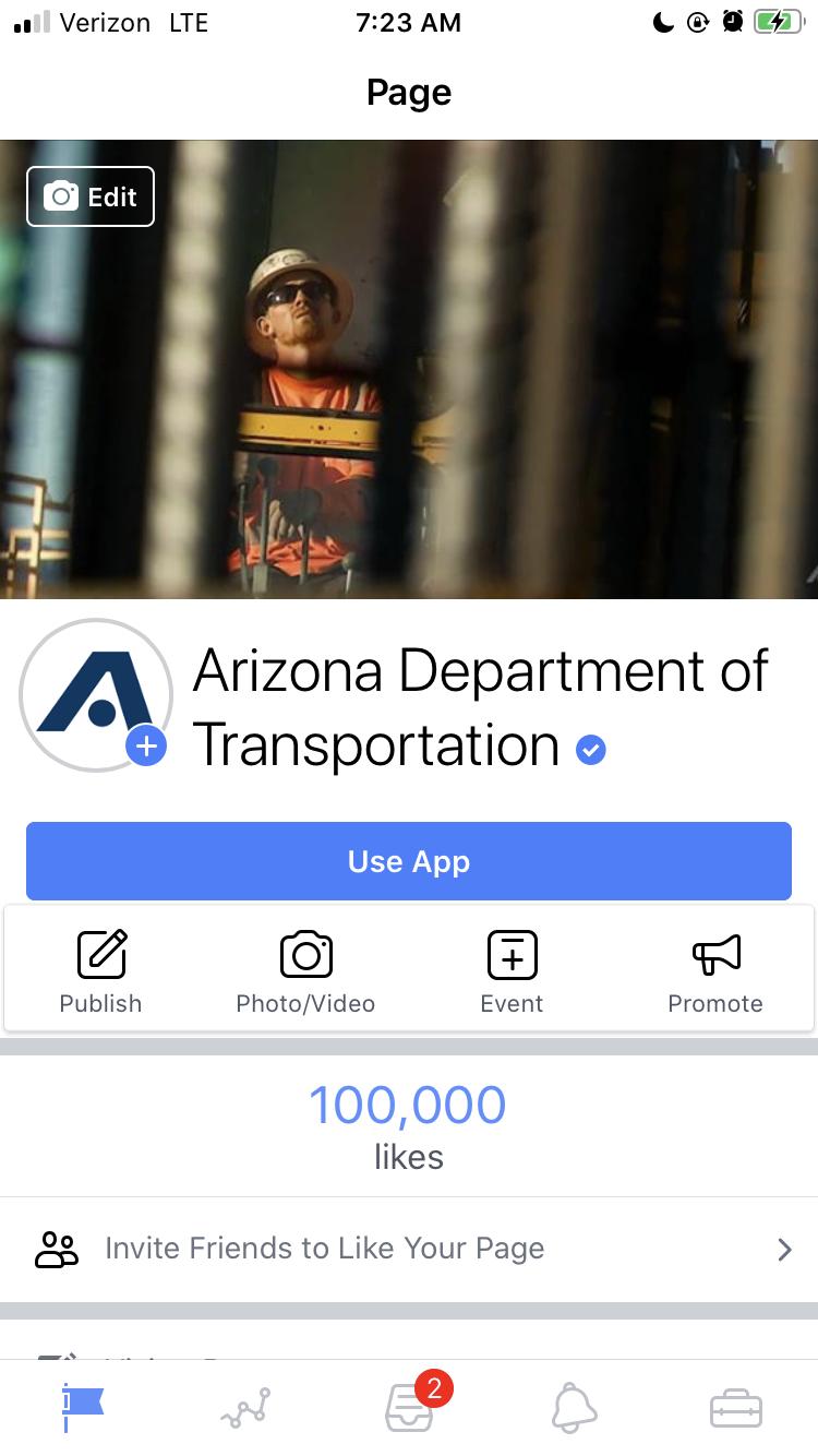 100000th like on Facebook