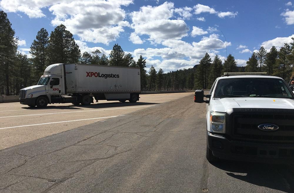 Truck at Christensen Rest Area