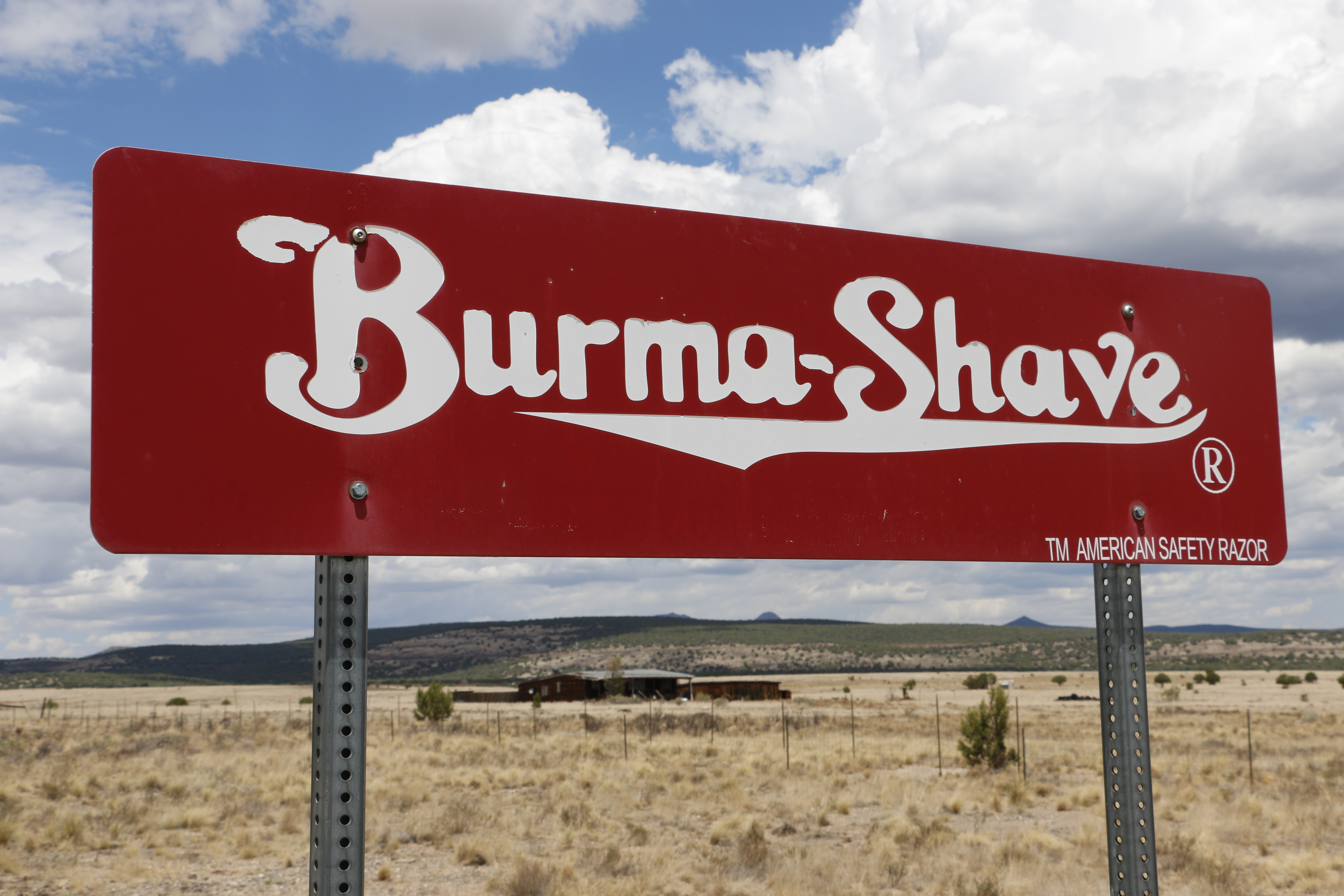 Burma-Shave Sign Close Large