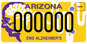 Alzheimer's Awareness License Plate
