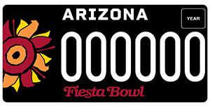 Fiesta Bowl License Plate