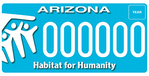 Habitat for Humanity License Plate