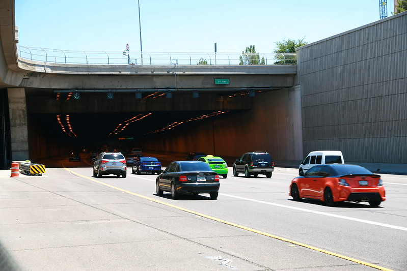 Looking eastbound into Deck Park Tunnel