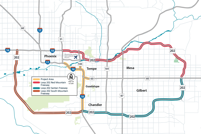 Loop 202 Freeway Map