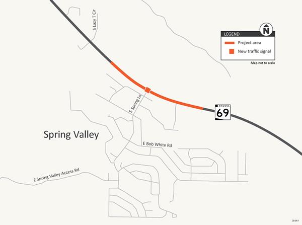 SR 69 Spring Lane map
