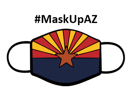 Mask Up AZ Graphic