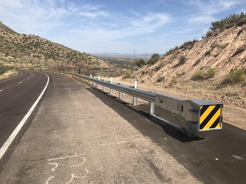 New guardrail on SR 87