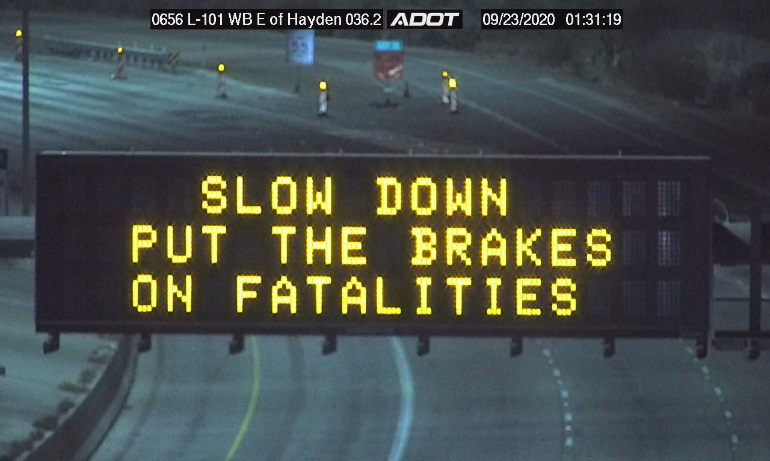 Slow Down message