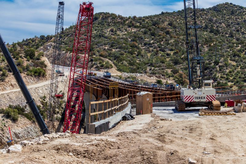 File photo of Pinto Creek Bridge replacement project