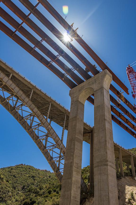File photo of new US 60 Pinto Creek Bridge under construction