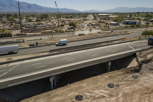 View of Interstate 10/Ruthrauff Road interchange replacement project