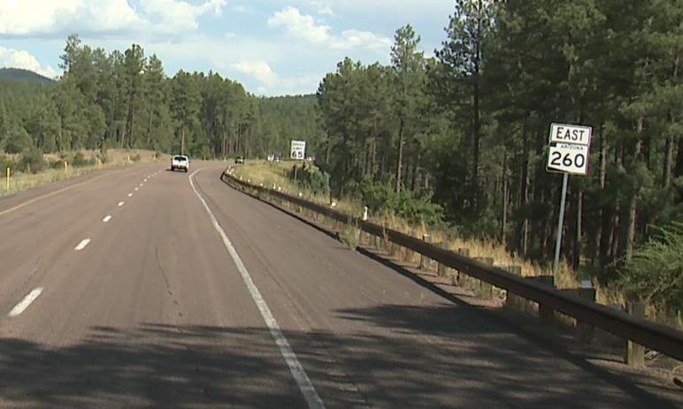 State Route 260 eastbound Mogollon Rim