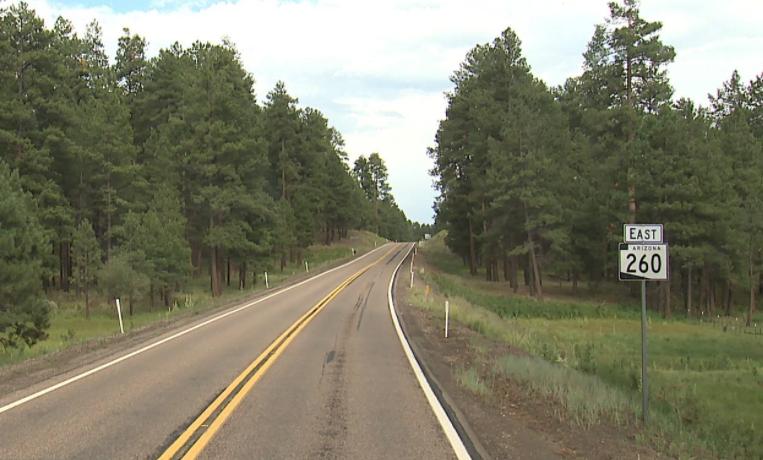 State Route 260 eastbound White Mountains SR 473