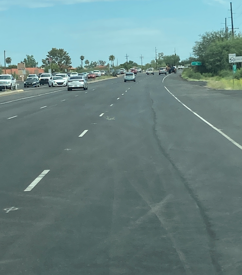 Photo of new pavement on SR 77