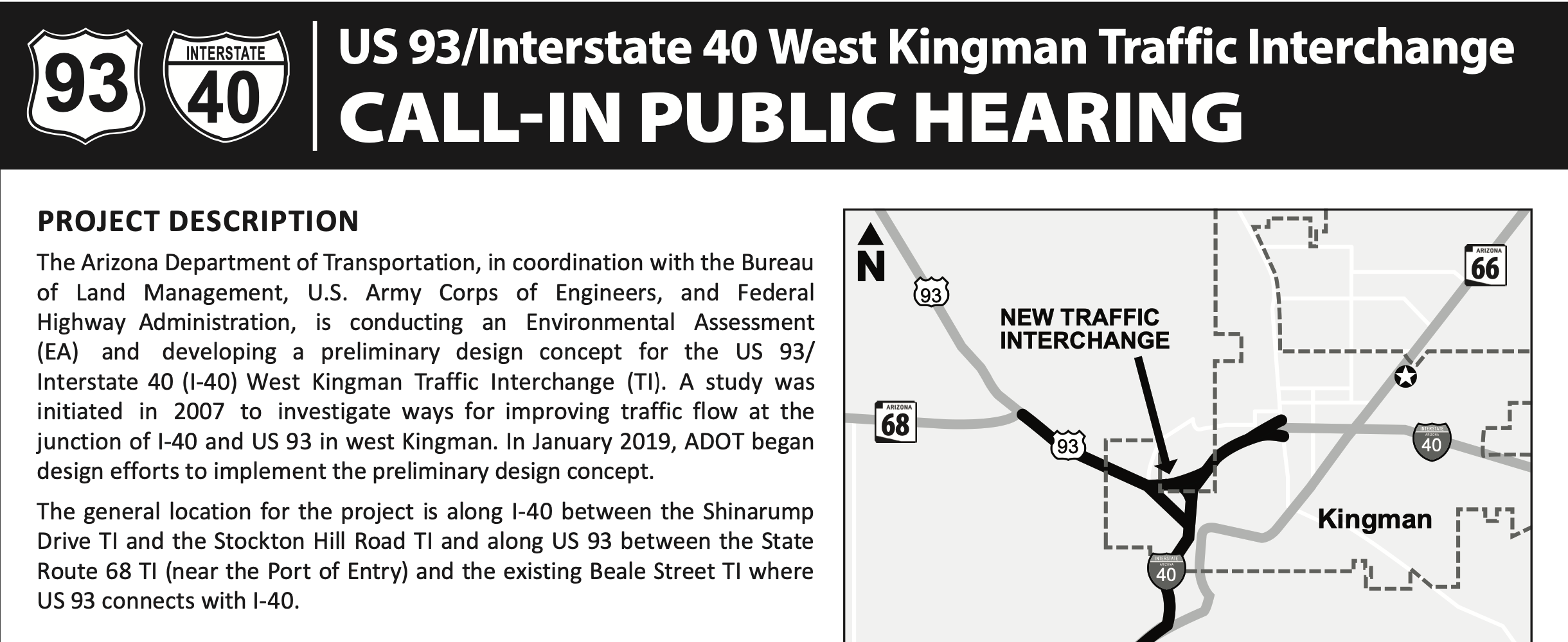 US 93 I-40 public meeting