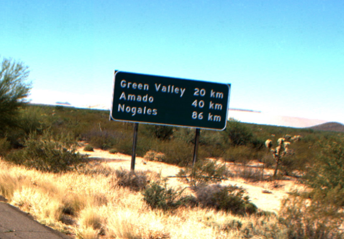 I-19 kilometer sign