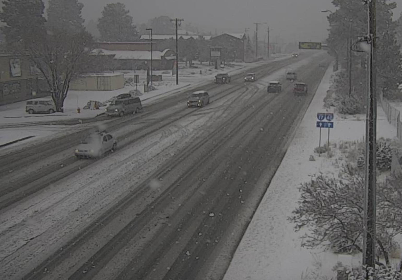 Snow on Milton Avenue in Flagstaff