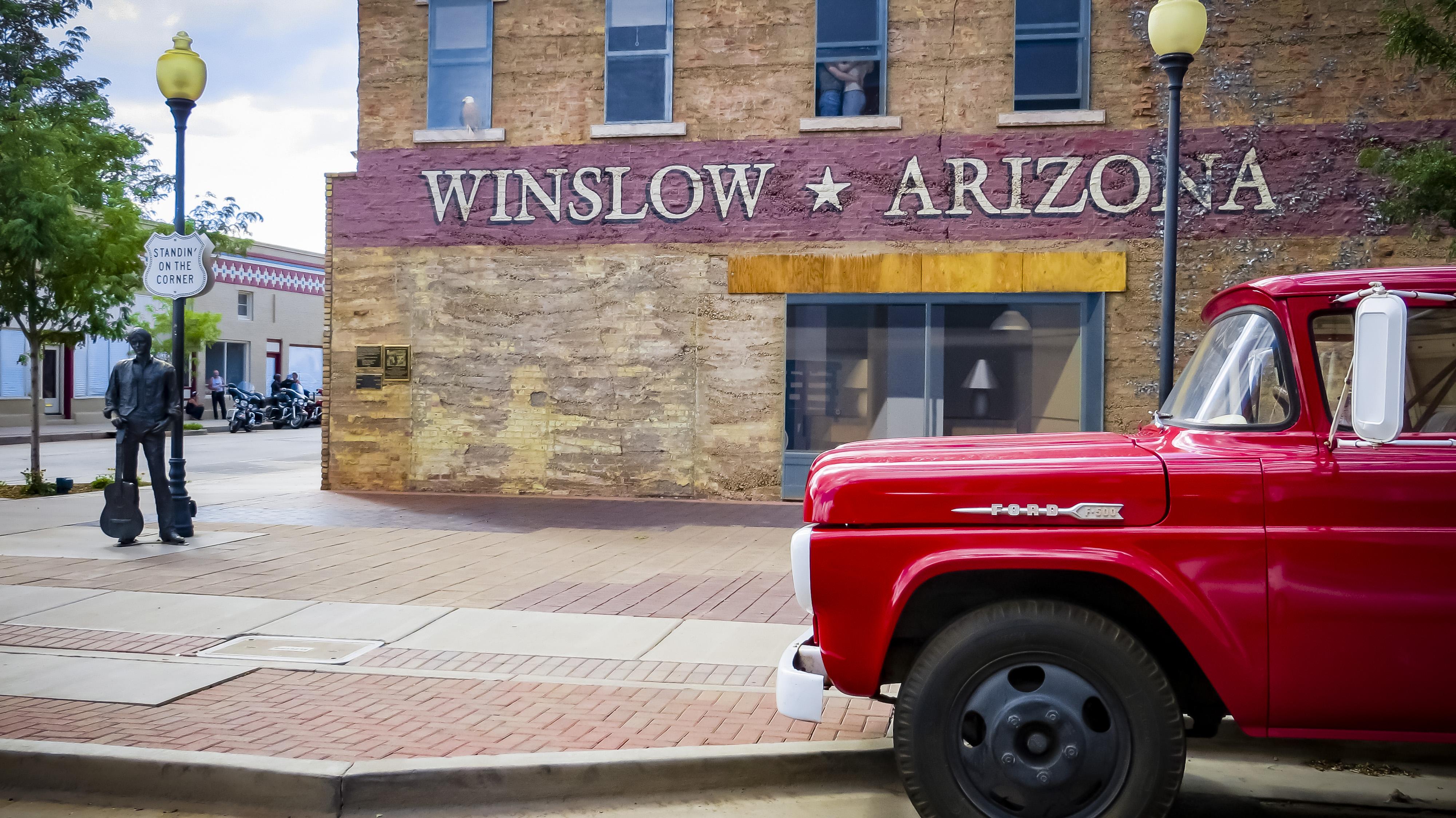 Standin' On a Corner in Winslow, Arizona.