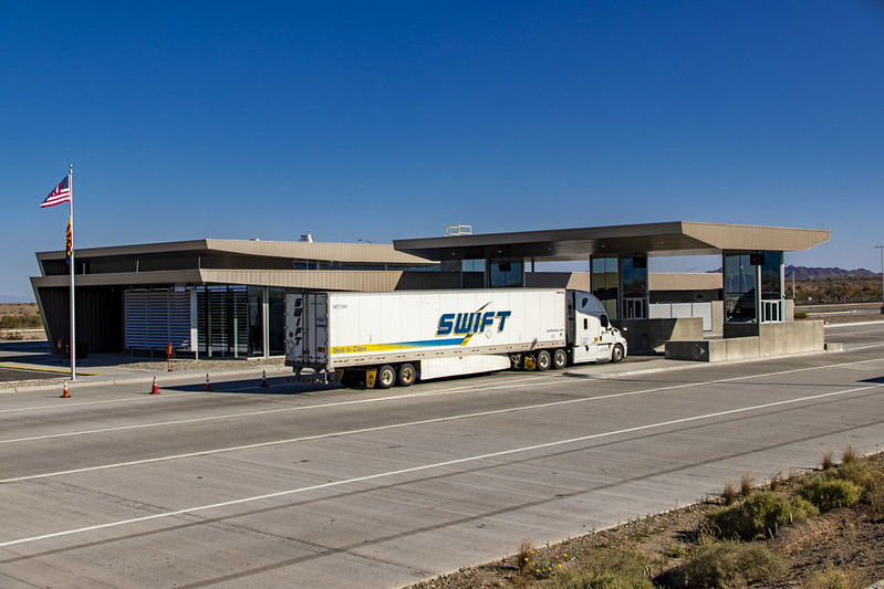 Truck at port of entry