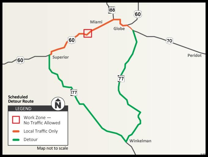 US 60 closure map