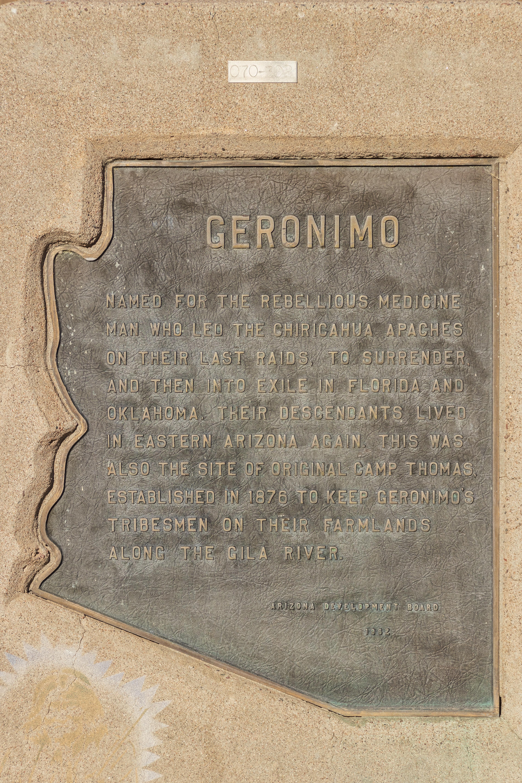 US 70 Geronimo marker