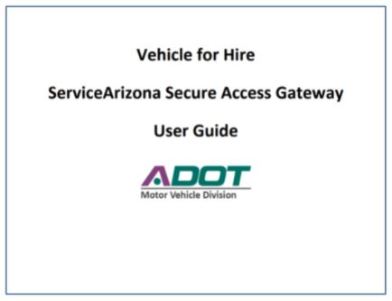 Arizona Vehicle For Hire Licensing