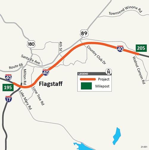 Walnut Canyon project map