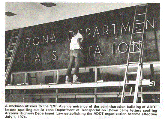 ADOT sign from 1974