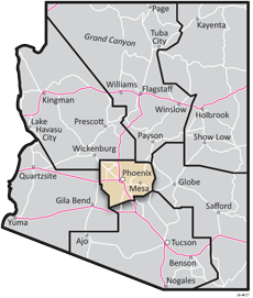 Central District - ADOT Districts Map