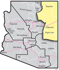 Northeast District - ADOT Districts Map