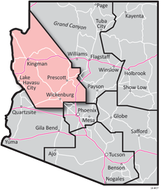 Northwest District - ADOT Districts Map